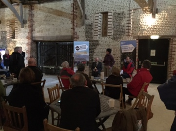 photo - walking festival launch event at Waxham Barn